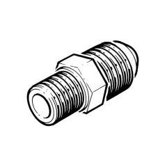 "Male Flare Adaptor - 10mm x 1/4"" BSP TM"