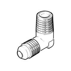 "Male Flare Adaptor - 10mm x 1/4"" BSP TM Elbow Adaptor"