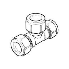 LPG Metric Compression Tee - 10mm