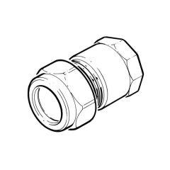 "Compression Straight Adaptor - 10mm x 3/8"""