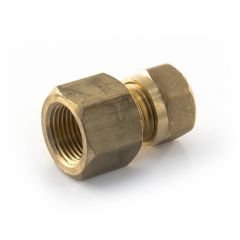 "LPG Metric Compression Straight Adaptor 10mm x 3/8"" BSP PF"