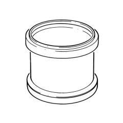 Double Socket Coupler - 110mm PVC