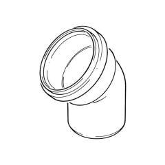 Single Socket Bend - 110mm x 11.1/4°