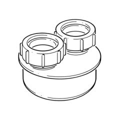 Waste Pipe Adaptor - 110mm x 40mm & 40mm Double Equal