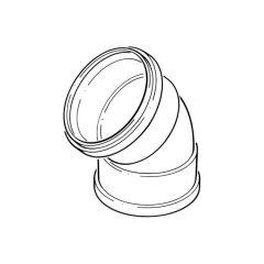Double Socket Bend - 110mm x 45°