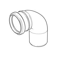 Single Socket Bend - 110mm x 87.1/2°