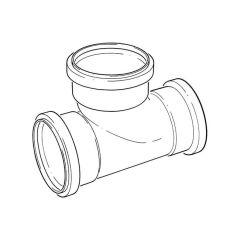 Triple Socket Equal Junction - 110mm x 87.1/2°