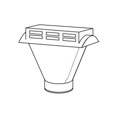 Schiedel B Vent Combined Vent Tile & Adaptor - 125mm