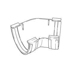 135° Angle External - Round High Capacity - White