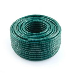 Green Garden Hose - 15m Braided