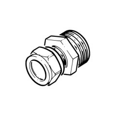"Solar Pipe Coupler 15mm Comp. x 3/4"" M for DN16 Pipe"