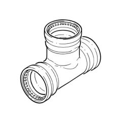15 mm - Cuprofit 2 Push-fit Equal Tee - Push-fit All Ends