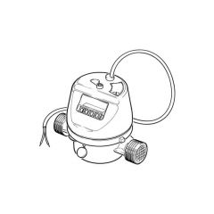 "Pulsed Hot Water Meter - 15mm, 1/2"" BSP TM"