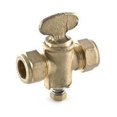 Rigid Fan Gas Cock - 15mm Compression