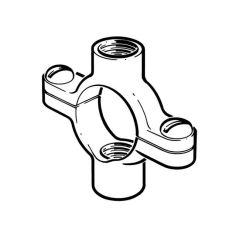 "Munsen Double Ring Clip - 15mm Tapped 1/4"" BSP Brass"