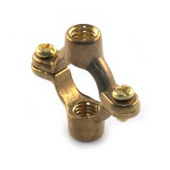 Munsen Double Ring Clip - 15mm Tapped M10 Brass