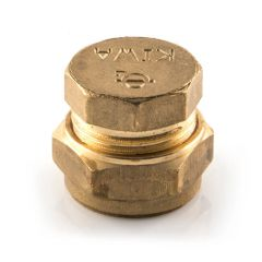 Stop End UK Compression Brass - 15mm
