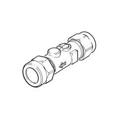 Straight Single Check Isolating Valve Str 15mm Brass