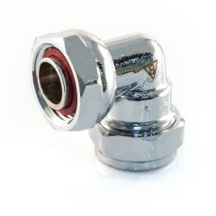 "Bent Tap Connector - 15mm x 1/2"" Chrome Plated"