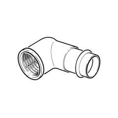 """>B< Press-fit Bent Connector - 15mm x 1/2"""""""" BSP F"""