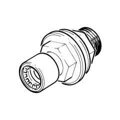 "Conex Push-fit Tank Connector - 15mm x 1/2"""
