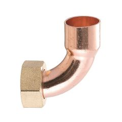 """End Feed Bent Tap Connector 15mm x 1/2"""" Union Nut"""