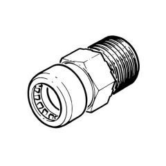 """Tectite Sprint Push-fit Male Connector 15mm x 1/2"""""""