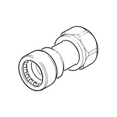 """Tectite Sprint Push-fit Tap Connector 15mm x 1/2"""""""