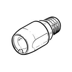 """Hep2O® Adaptor - 15mm x 1/2"""" BSP M White DZR"""