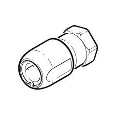 """Hep2O® Adaptor - 15mm x 1/2"""" BSP F White DZR"""