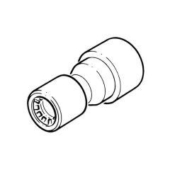 Conex Push-fit Reducing Coupler - 15mm x 10mm