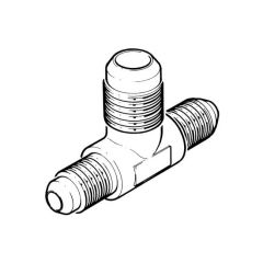 Male Flare Tee - 15mm x 15mm x 15mm