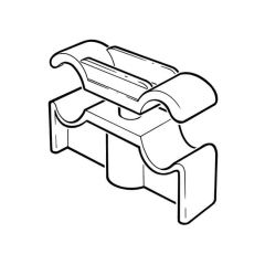 Double Pipe Clip - 15mm x 22mm, Plastic