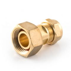 Bath Tap Connector Straight Compression 15mm x 3/4""