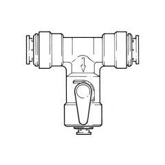"JG Speedfit Push-fit Angle Stop Valve - 15mm x 3/8"""
