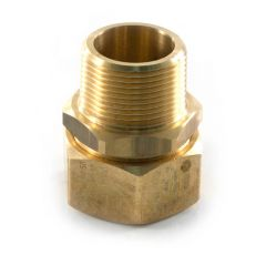 "TracPipe® Gas Straight Fitting 15mm x 1/2"" BSP TM"