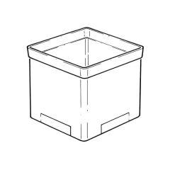 Square Hopper Grid Raising Piece - 150mm