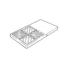 Rectangular Hopper Grid - 150mm x 250mm