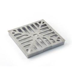 "Square Hopper Drain Grid - 150mm (6"") Aluminium"