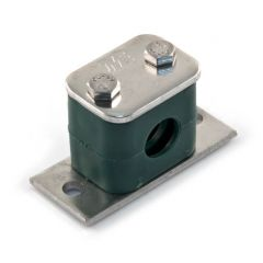 "Stainless Steel 316 Tube Clamp - 15mm o.d. 3/8"" BSP"