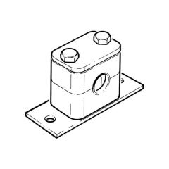 "Tube Clamp - 15mm o.d. 3/8"" BSP Pipe"