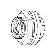 """Essex Cylinder Flange - 1"""" BSP F Outlet Brass"""