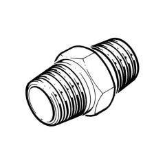 """Brass Threaded Hexagon Nipple Brass - 1"""" BSP T"""