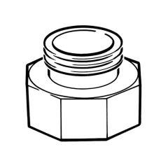 """Gas Meter Adaptor - 1"""" BS 746 F x 1/2"""" BS 746 M"""