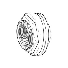 "Essex Cylinder Flange 2.1/4"" BSP F Brass Domed Fixing"