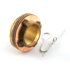 "Essex Cylinder Flange 2.1/4"" BSP F Brass Domed Fixing"