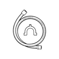 Washing Machine Drain Hose with Crook - 2.5m