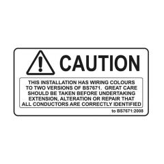 2 Colour Wiring Warning Sticker - 50 x 100mm