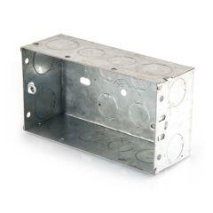 Flush Fitting Pattress Box - 2 Gang, 45mm Deep