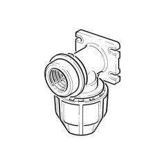 "FloPlast Below Ground Wallplate Elbow - 20mm x 1/2"""